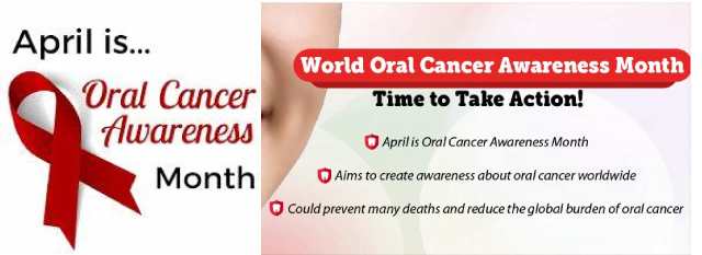 advertisement for oral cancer awareness month