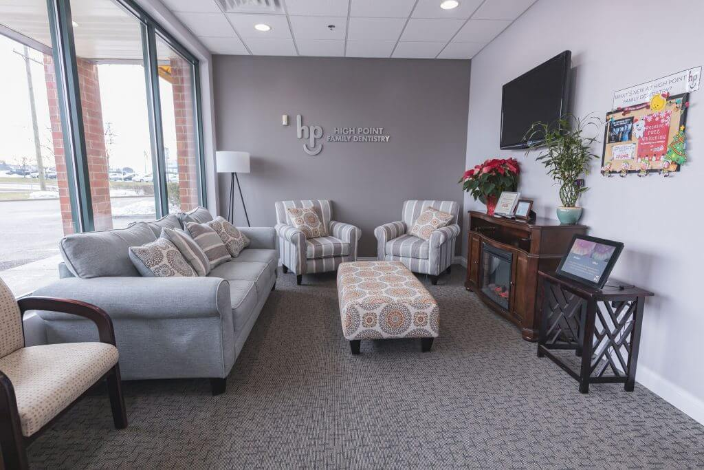 waiting area at High Point Smiles Dentistry