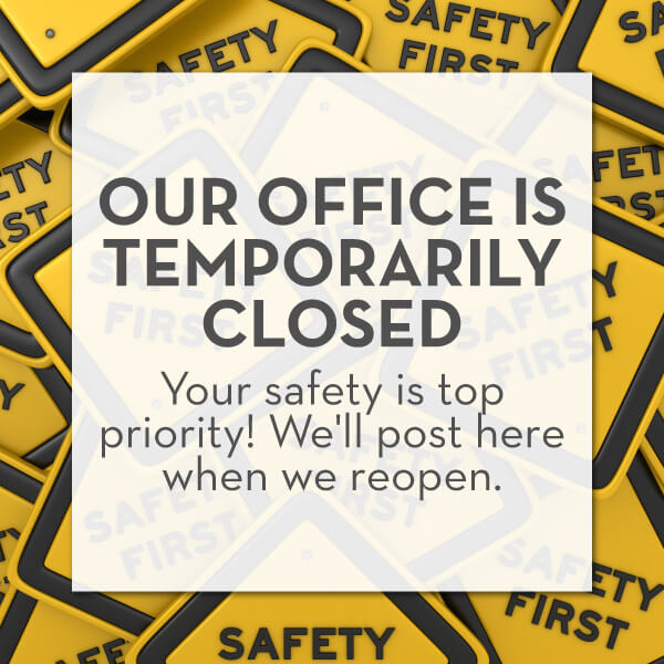 Announcement that High Point Dentistry is temporarily closed during the COVID-19 pandemic except for dental emergencies