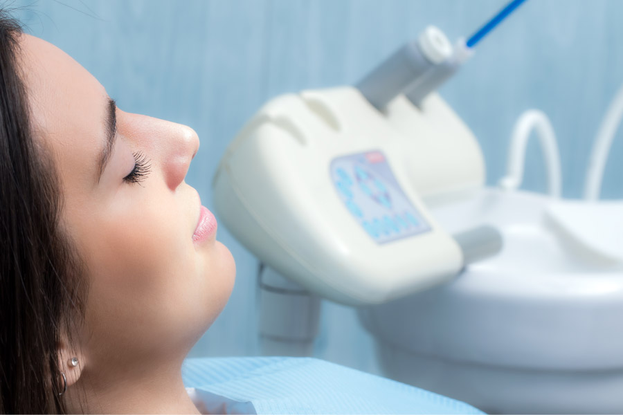 female dental patient under sedation to deal with dental anxiety